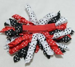 Unbranded Girl Infant Toddler Headband Removable Hair Bow Red Black White image 7