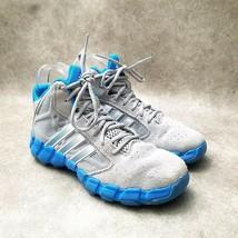 Adidas Big Boys Shake Em K G56398 Sz 4 M Gray Blue Athletic Sneakers - $44.99