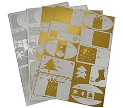Christmas Gift Tags 48 Gold and Silver Foil Xmas Gift Tags Looks Great o... - $30.27