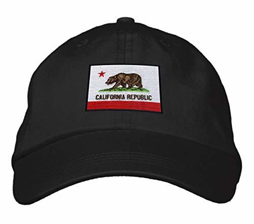 California Flag - Adjustable Unisex Dad Cap Style Black Cap - Shipped from USA