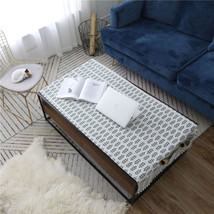 Leaf Printed Cotton Linen Coffee Table Cover Tablecloth Rectangular Tabl... - $8.19+