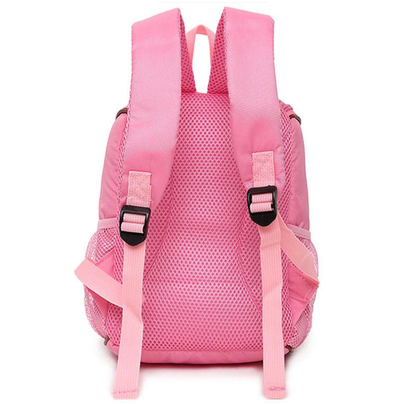 Preschool Backpack Nylon Bear Star Printed School Bag Soft Handle Zipper Fashion