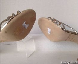 NEW Authentic JIMMY CHOO Straits D'Orsay Gold Sandals (Size 40.5) - MSRP $795.00 image 12