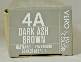 Joico Vero K-Pak Permanent Color Creme 4A Dark Ash Brown (2 pk) - $24.26