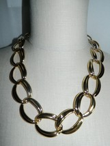 "VTG NOS NAPIER with Tags Heavy Gold Tone Chain Link Choker Necklace - 20/22"" image 2"
