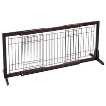 Supra Adjustable Solid Wood Free Stand Dog Gate Pet Fence - $61.99