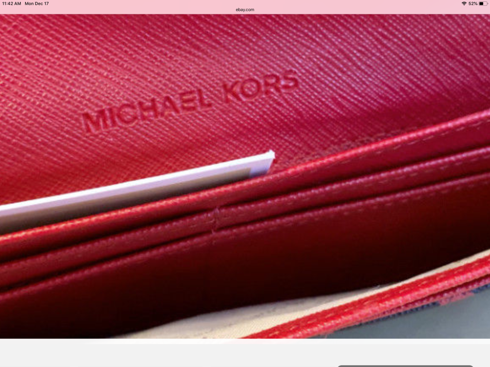 b3c62b9015c0 MICHAEL KORS JET SET TRAVEL PRINT SAFFIANO LEATHER BBLACK/RED FLAT WALLET