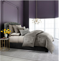 Hotel Collection Dimensions Queen Duvet Cover, Mink - $128.69