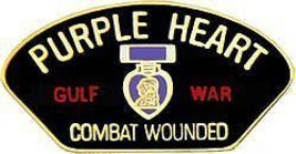 PURPLE HEART GULF  WAR VETERAN COMBAT WOUNDED PIN - $13.53