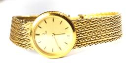 Vintage Women's Omega Deville 1387 591.0229 GEP Sterling Silver Wristwatch 22mm - $197.99