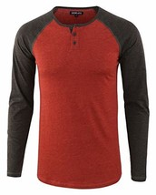 DESPLATO Men's Casual Basic Active Sports Raglan Long Sleeve Baseball Tee Shirt  - $36.51