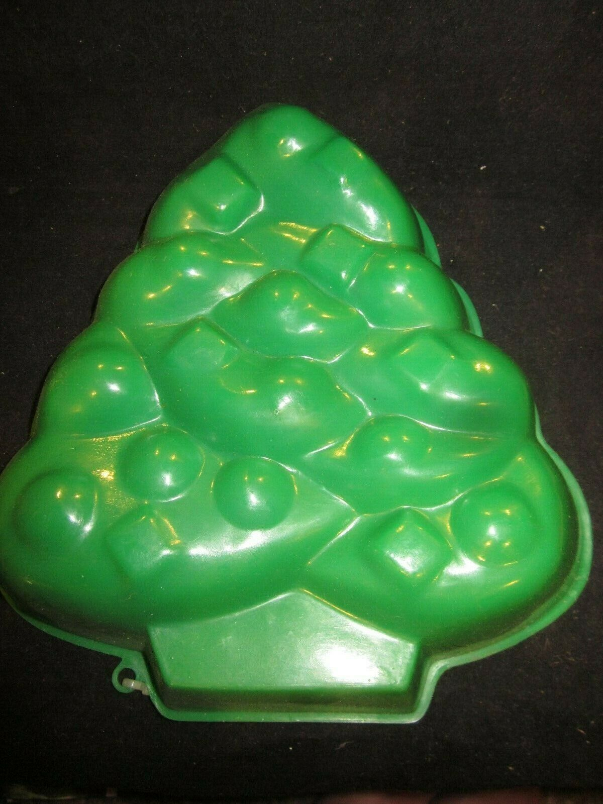 Vintage Large Green Christmas Tree Jello Mold Reusable Brand New