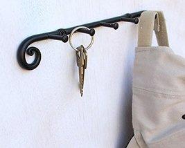 Blacksmith Handmade Wrought Iron 5 Hooks Key Holder Organizer, Key Hook, Key Han image 4
