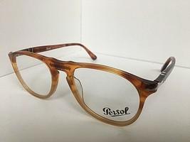 New Persol 9649-V 1025 Amber Resina e Sale 50mm  Eyeglasses Frame Italy  - $149.99