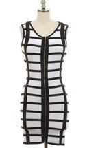 New Small Sexy Black and White Bandage Dress Zipper - $19.56