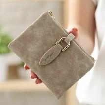 Fashion Women Short Purses Vintage Leather Lady Snap Fastener Short Clutch  - $11.65