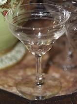 9 Vintage CLEAR GLASS RAISED SCROLL Cordial Liqueur Aperitif Wine Stem G... - $44.99