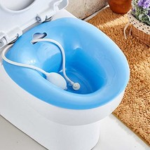 Sitz Baths Install on Toilet for Hemorrhoids Patients with Flush Hose for Pregna