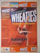 MT WHEATIES Box 2002 18oz SARAH HUGHES Figure Skating [G7E12d] - $4.51