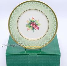 Fitz & Floyd Winter Holiday Green Wreath * 4 SALAD PLATES * Christmas  N... - $79.99