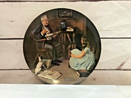 "Vintage Collector Plate Norman Rockwell ""The Storyteller"" By Edwin M Kno... - $21.10"