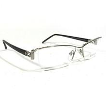 ESCADA Eyeglass Frames Rectangular Silver Black Semi Rimmed VES519 COL.5... - $93.50