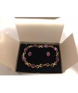 Vintage Avon Elegant Gift Set Bracelet & Pierced Earrings Surgical Steel... - $10.00
