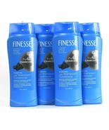 4 Bottles Finesse 13 Oz Purifying Charcoal 2 In 1 Clarify Shampoo & Cond... - $30.99