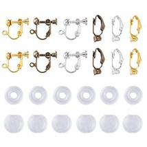 Kissitty 36Pcs 3 Colors Stud to Clip on Earring Converters 2 Styles Non ... - $19.75