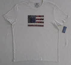 America Rag Cie Men T Shirt  XL Beige Applique Solid Short Sleeves Cotto... - $16.40
