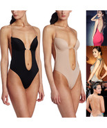 Backless Full Body Shaper Thong Convertible Seamless Low Back Max Cleava... - $13.99+