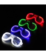 Glowing Glasses LED Fluorochrome For DJ Party Shutters Slow Flash Bars L... - $9.95