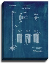 Ski-pole Patent Print Midnight Blue on Canvas - $39.95+
