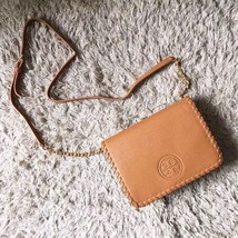Authentic Tory Burch Marion Combo Crossbody Bag Brown - $275.00
