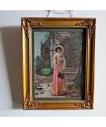 Antique colored Art Nouveau Photo gravure/Litho 1900 The Ullman Co New York - $59.39