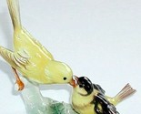 "Vintage Goebel Yellow Canary Bird & Baby Figurine 5.75"" x 5.5"" WEST GERMANY 1967"