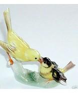"Vintage Goebel Yellow Canary Bird & Baby Figurine 5.75"" x 5.5"" WEST GERM... - $50.10"