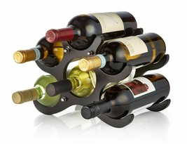 AdirHome Expresso Wood Freestanding Wooden Wine Rack 6 Bottle Holder - $23.95