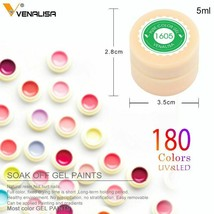 Venalisa 5ml White Pure Color Nail Art Gel Paint Tips DIY Decoration Manicure - $2.47