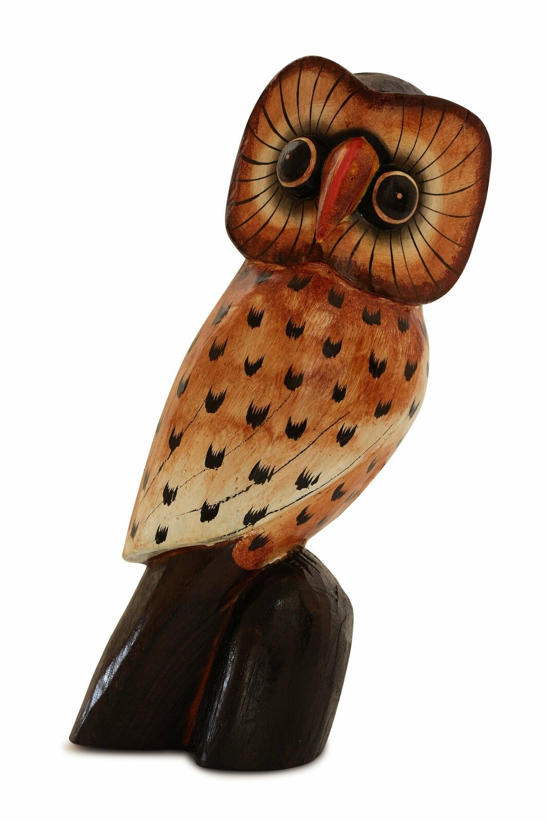 "Primary image for 12"" Wooden Owl Statue Figurine Art Home Decor Wood Sculpture Hand Carved Gift"
