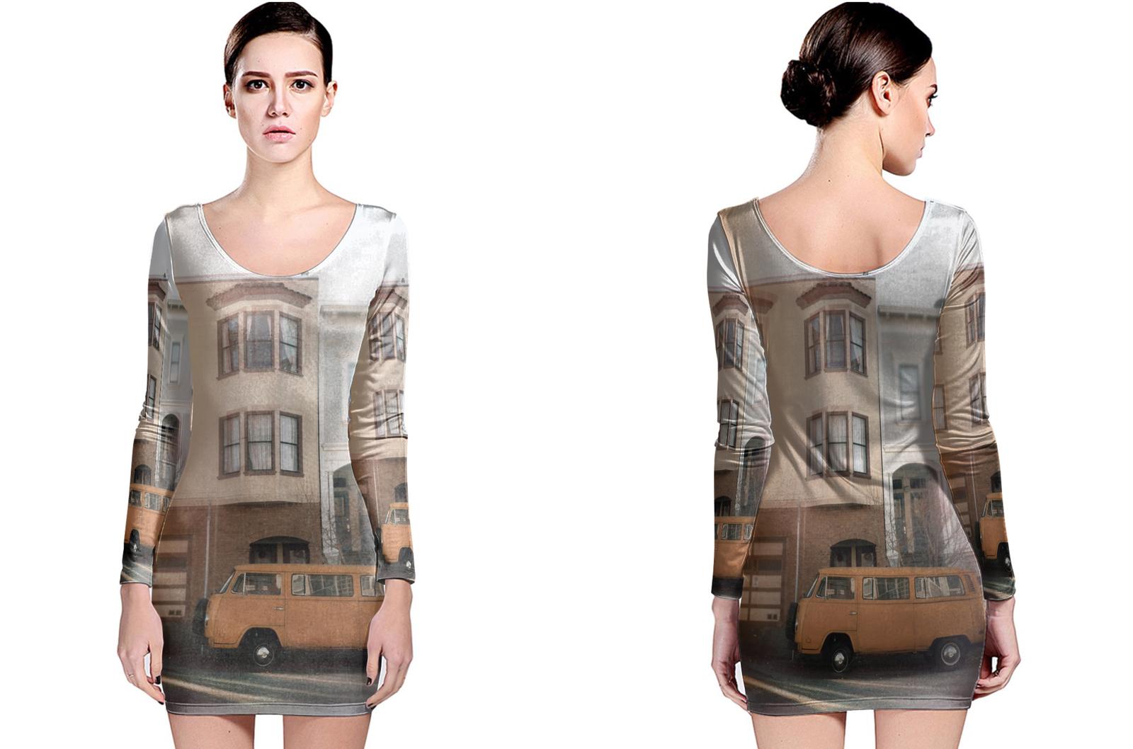 Volk swaggin long sleeve bodycon dress