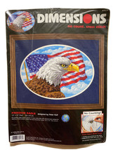 Dimensions Printed Cross Stitch Freedom Eagle 39018 America USA Flag Pat... - $14.09