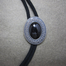 Men Bolo Tie Nature Agate Stone Celtic Bolo Tie With Sky System Rope - $16.53