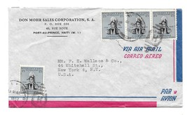 Haiti Airmail Cover 1957 Port Au Prince to New York US Scott# 409 - $4.99