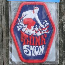 THINK SNOW Vintage Ski Patch VOYAGER Travel Souvenir Skiing Resort NOS - $10.84