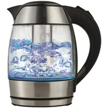 Brentwood Borosilicate Glass Tea Kettle With Tea Infuser BTWKT1960BK - €42,45 EUR
