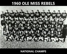 1960 Ole Miss 8X10 Team Photo Rebels Ncaa Football National Champs - $3.95