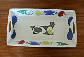 Figgjo Norway A La Carte Flameware Baking Oven Serving Tray Rooster Scan... - $74.01