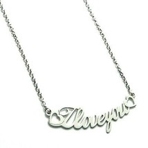 Necklace Silver 925, I Love You, Chain Rolo ' , Available All The Words - $99.94