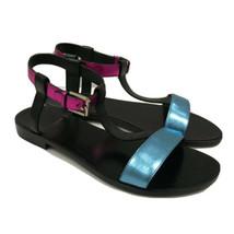 Y-0122120 New Saint Laurent Metallic Hedi Slimane Sandals Size 36 US 6 - $289.29